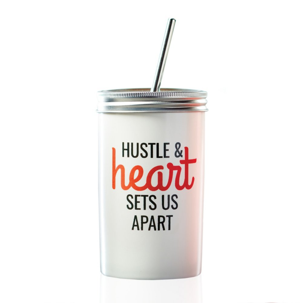 View larger image of Stainless Twist Top Tumbler - Hustle and Heart Set Us Apart