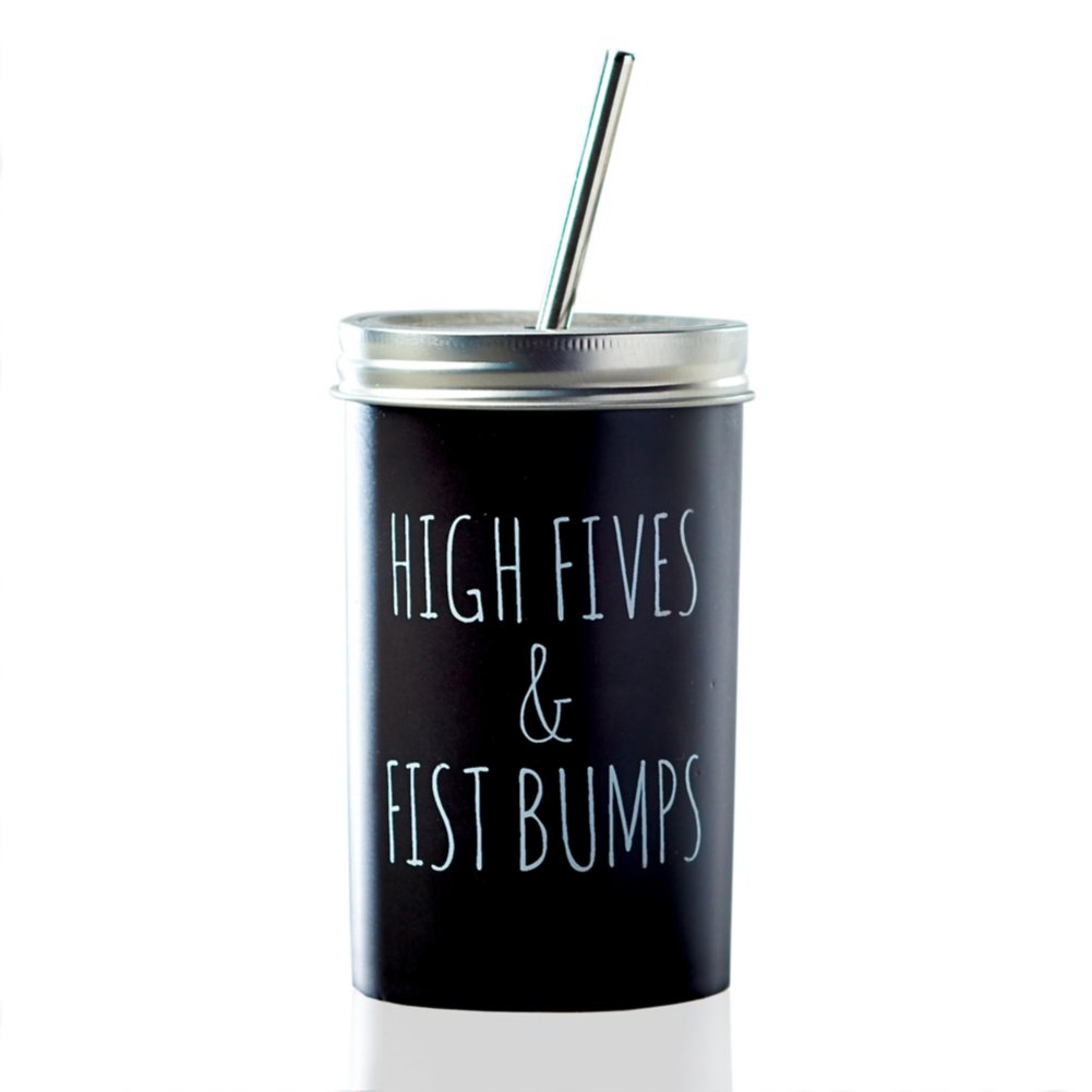 Stainless Twist Top Tumbler - High Fives and Fist Bumps