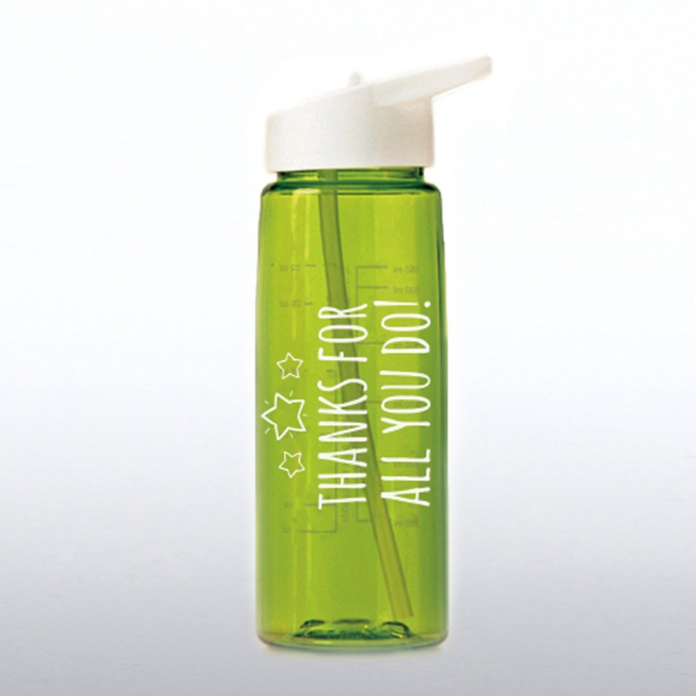Healthy Vibes Water Bottle - Thanks For All You Do
