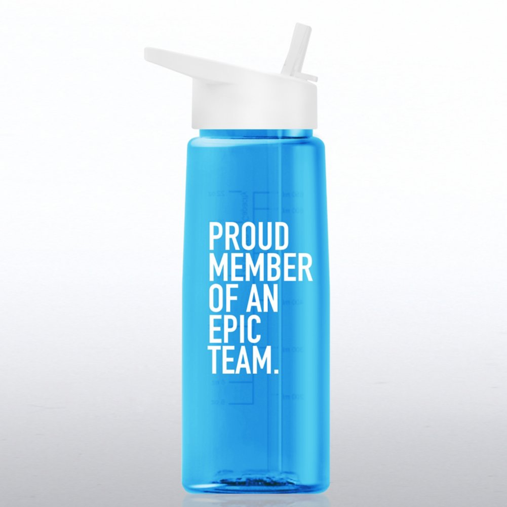 View larger image of Healthy Vibes Water Bottle - Proud Member Of An Epic Team
