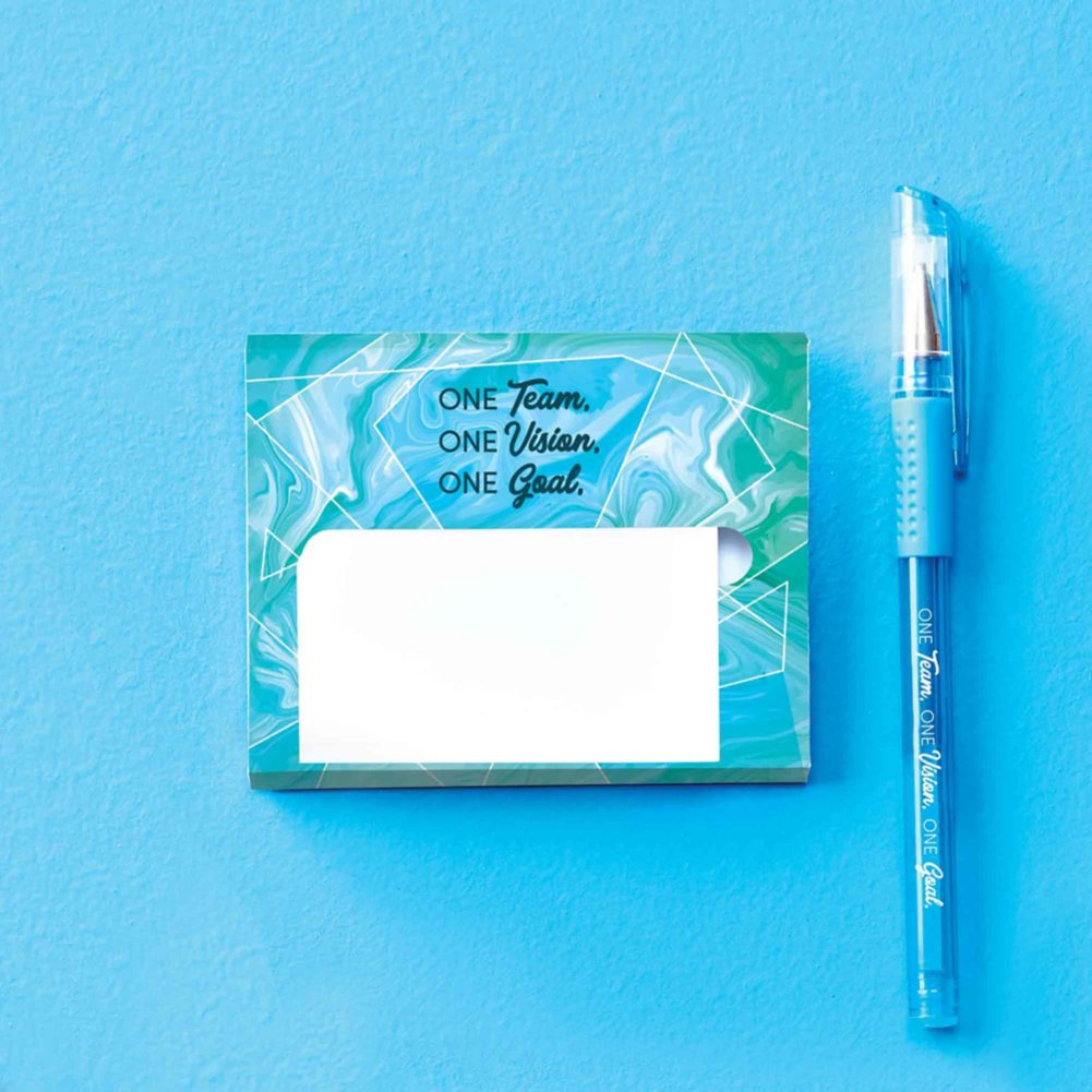 Pop-Up Sticky Notes and Pen Set - One Team