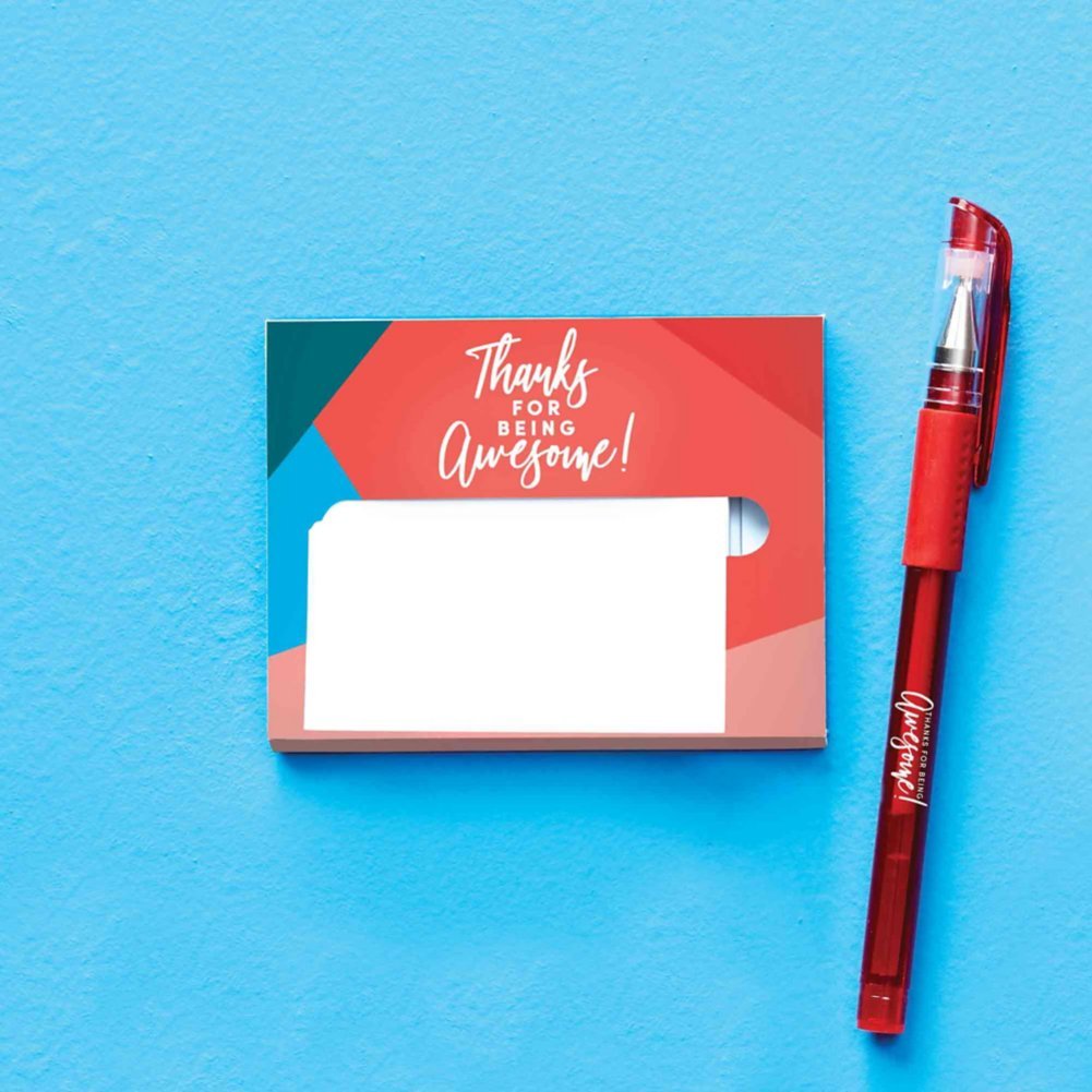 Pop-Up Sticky Notes and Pen Set - Thanks