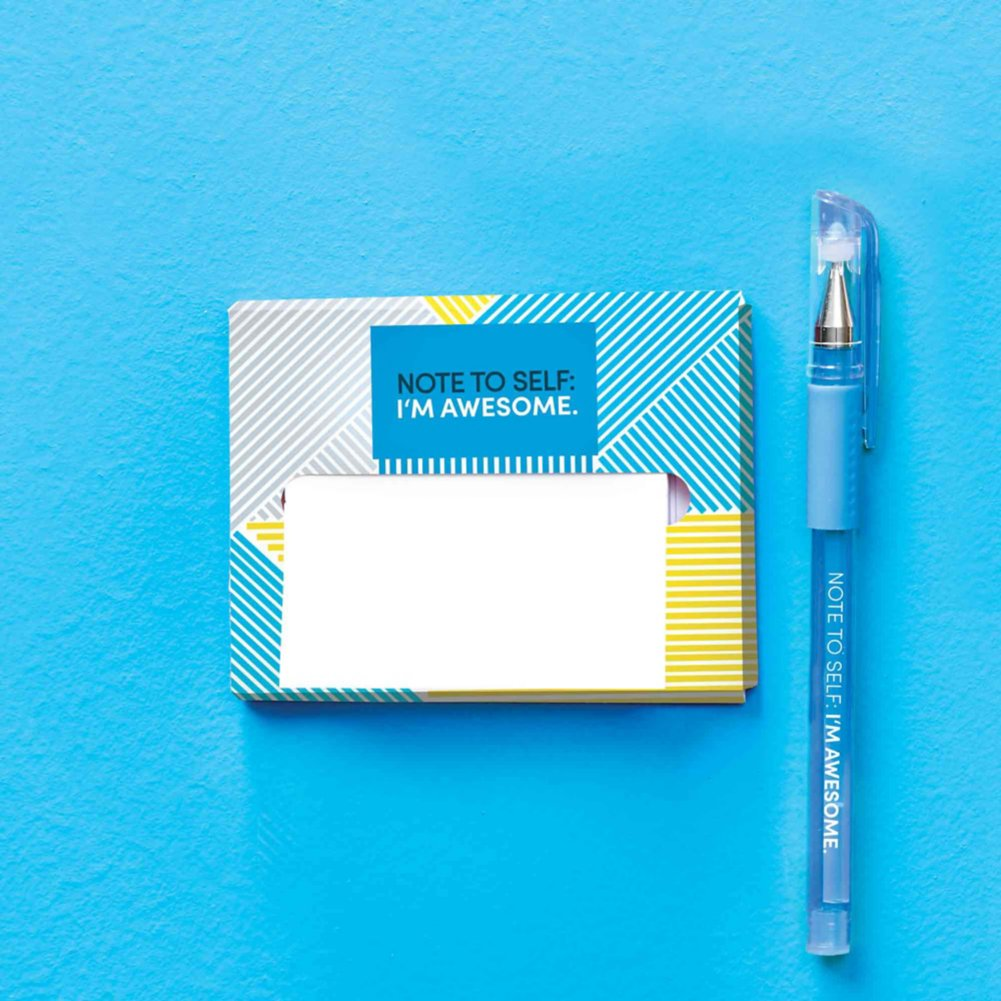 View larger image of Pop-Up Sticky Notes and Pen Set - Note to Self