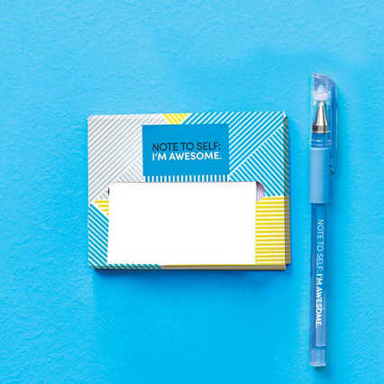 Pop-Up Sticky Notes and Pen Set - Note to Self