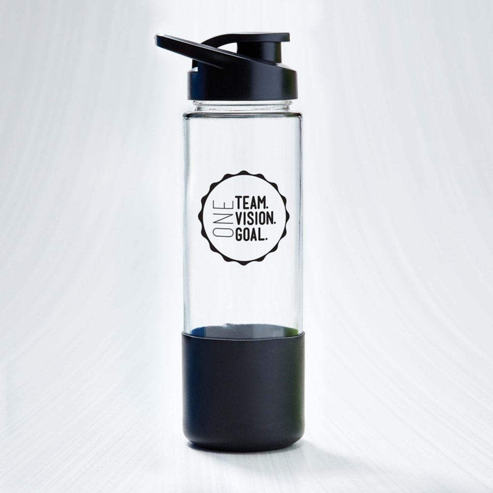 Color Grip Glass Water Bottle - One Team