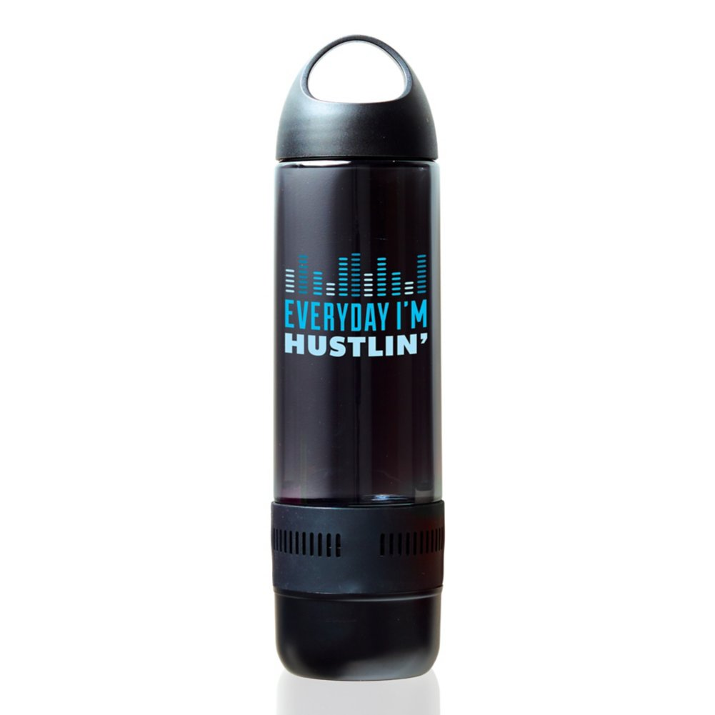 Bluetooth Beats Water Bottle - Everyday I'm Hustlin'