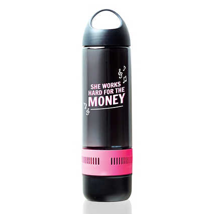 Bluetooth® Beats Water Bottle - She Works Hard for the Money