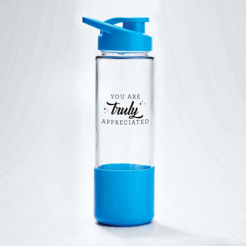 View larger image of Color Grip Glass Water Bottle - Truly Appreciated