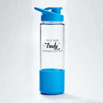 Color Grip Glass Water Bottle - Truly Appreciated