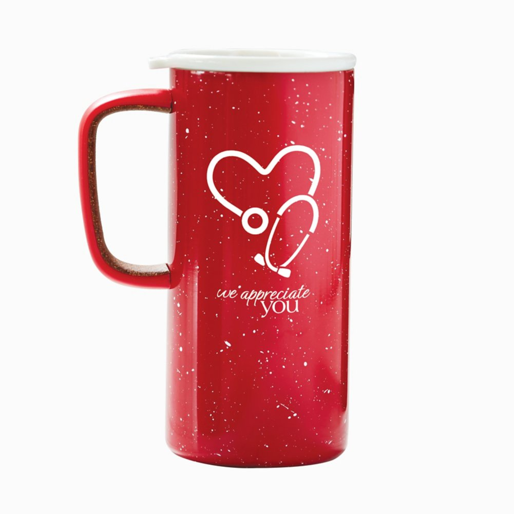 View larger image of Camp It Out Ello® Stainless Steel Mug - We Appreciate You