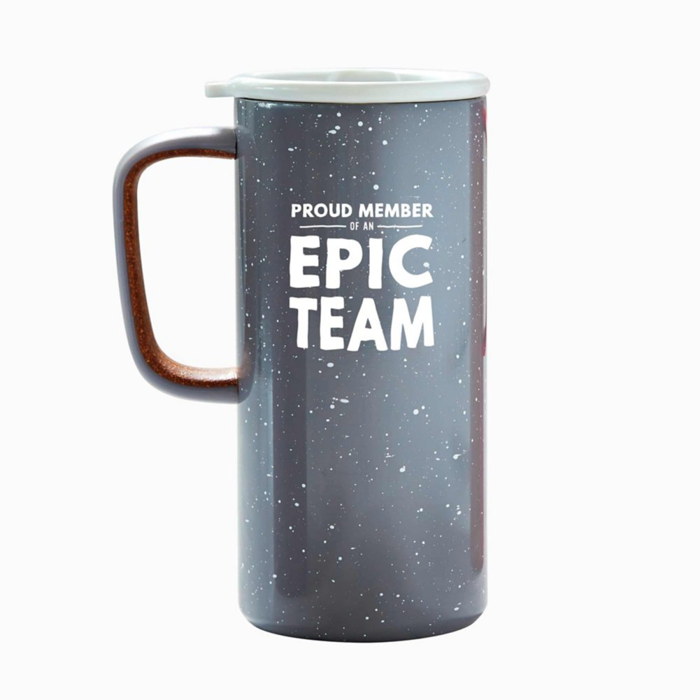 Camp It Out Ello® Stainless Steel Mug - Epic Team