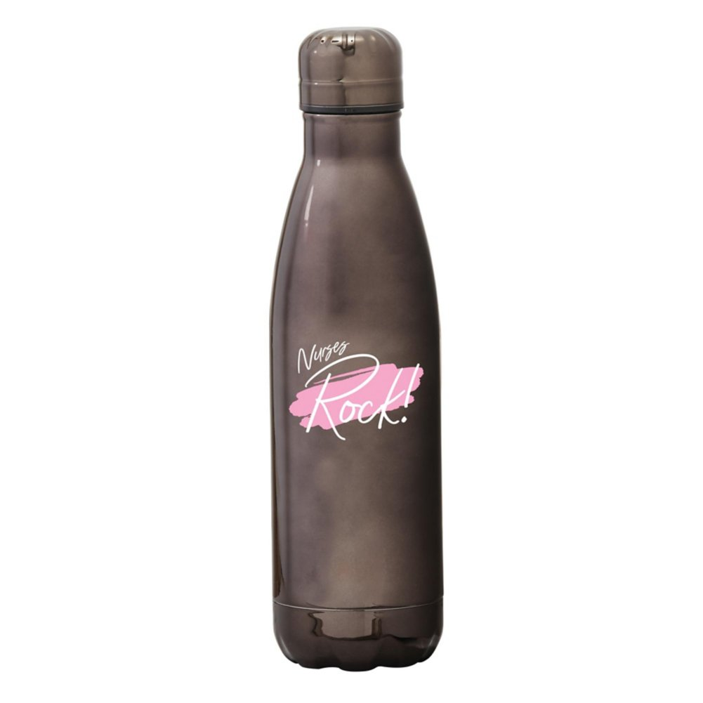 View larger image of Shine Bright Bowie Water Bottle - Nurses Rock