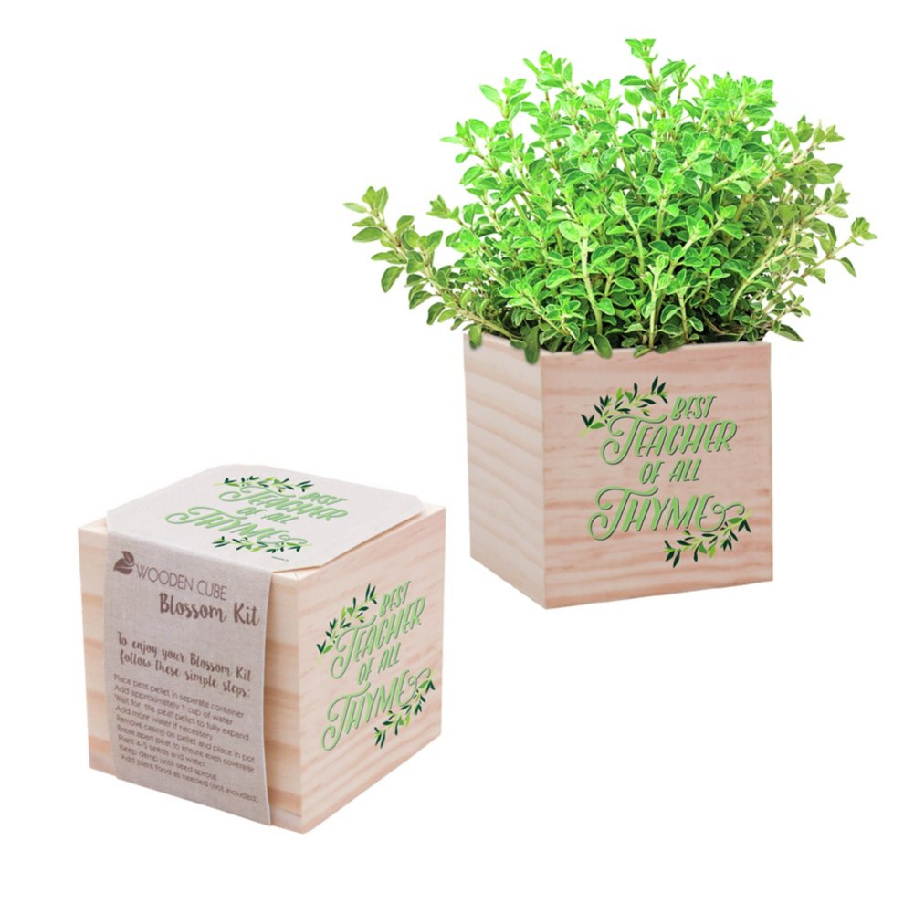 View larger image of Appreciation Plant Cube - Best Teacher of All Thyme