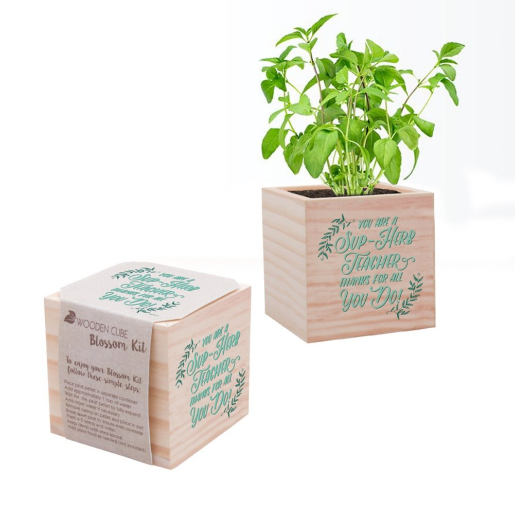 Appreciation Plant Cube - Sup-Herb Teacher