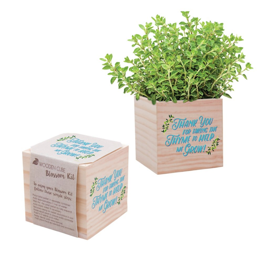 View larger image of Appreciation Plant Cube - Thank You For Taking the Thyme