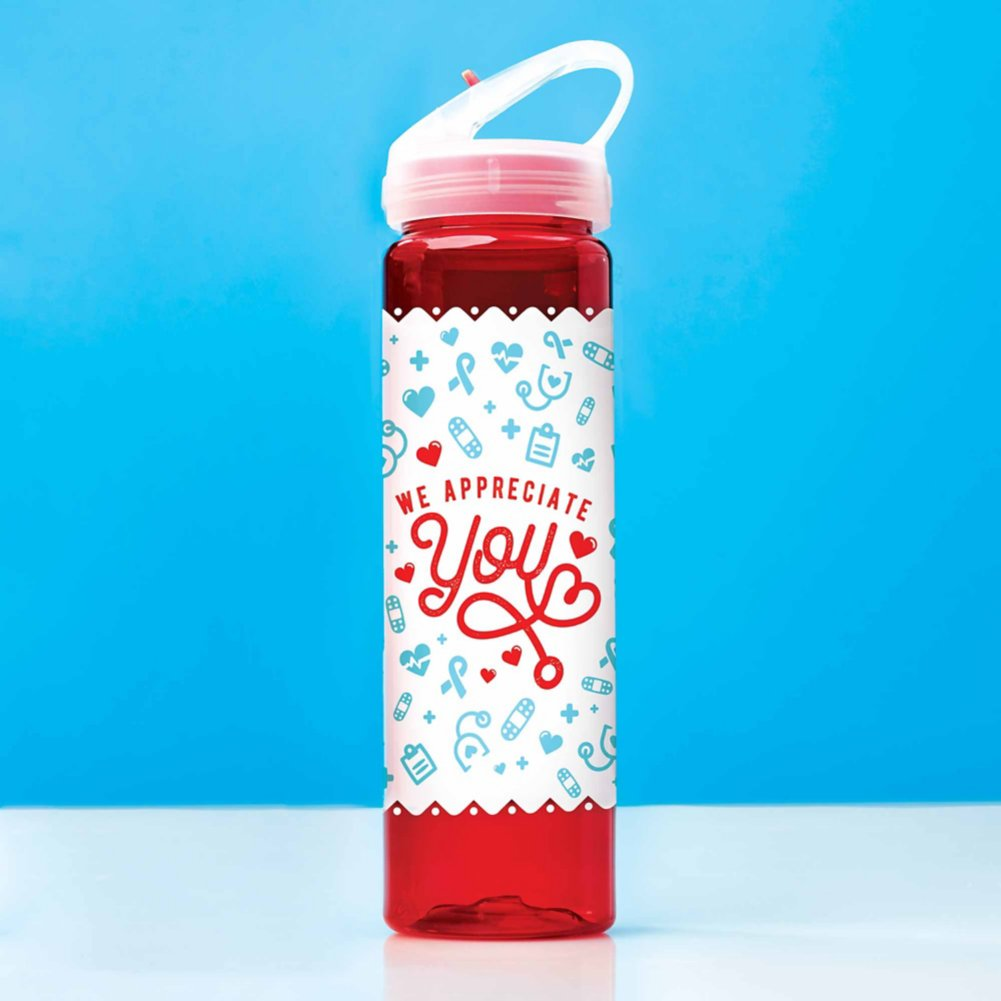 View larger image of Colorsplash Value Water Bottle - We Appreciate You