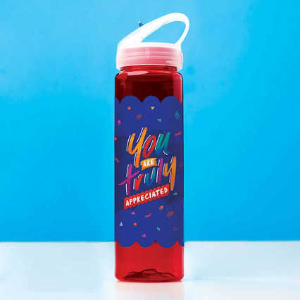 Colorsplash Value Water Bottle - You Are Truly Appreciated