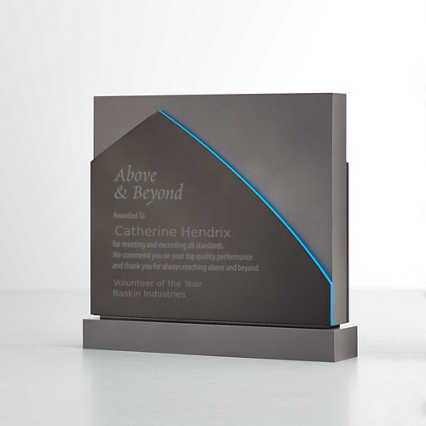 Grey Matte Acrylic Trophy Square