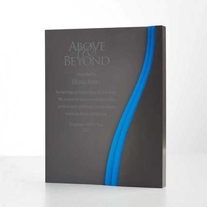 Grey Matte Acrylic Trophy Wave