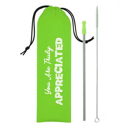 Keepin' It Green Stainless Steel Straw Pack- Appreciated