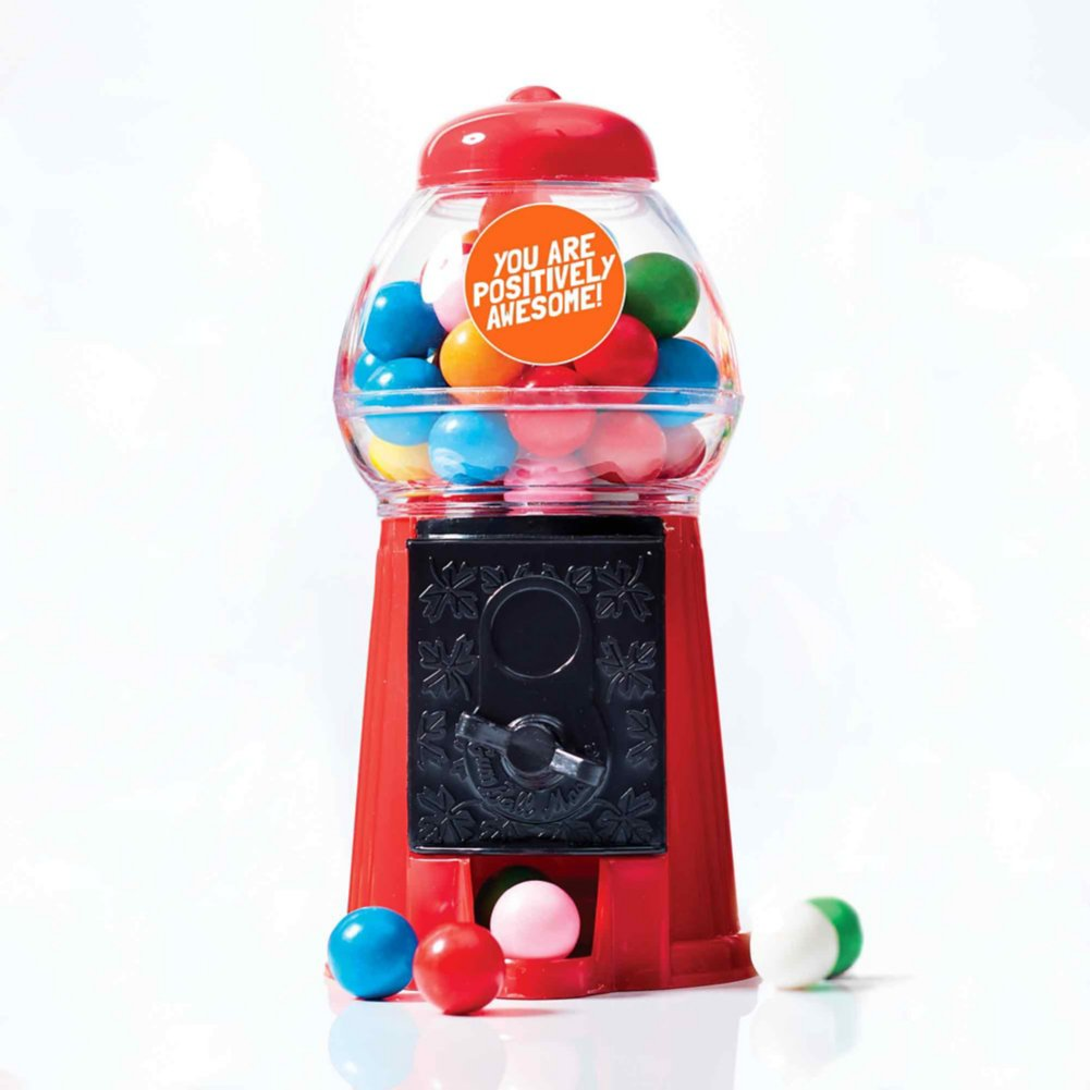 View larger image of Goody Gumball Machine Set - Positively Awesome