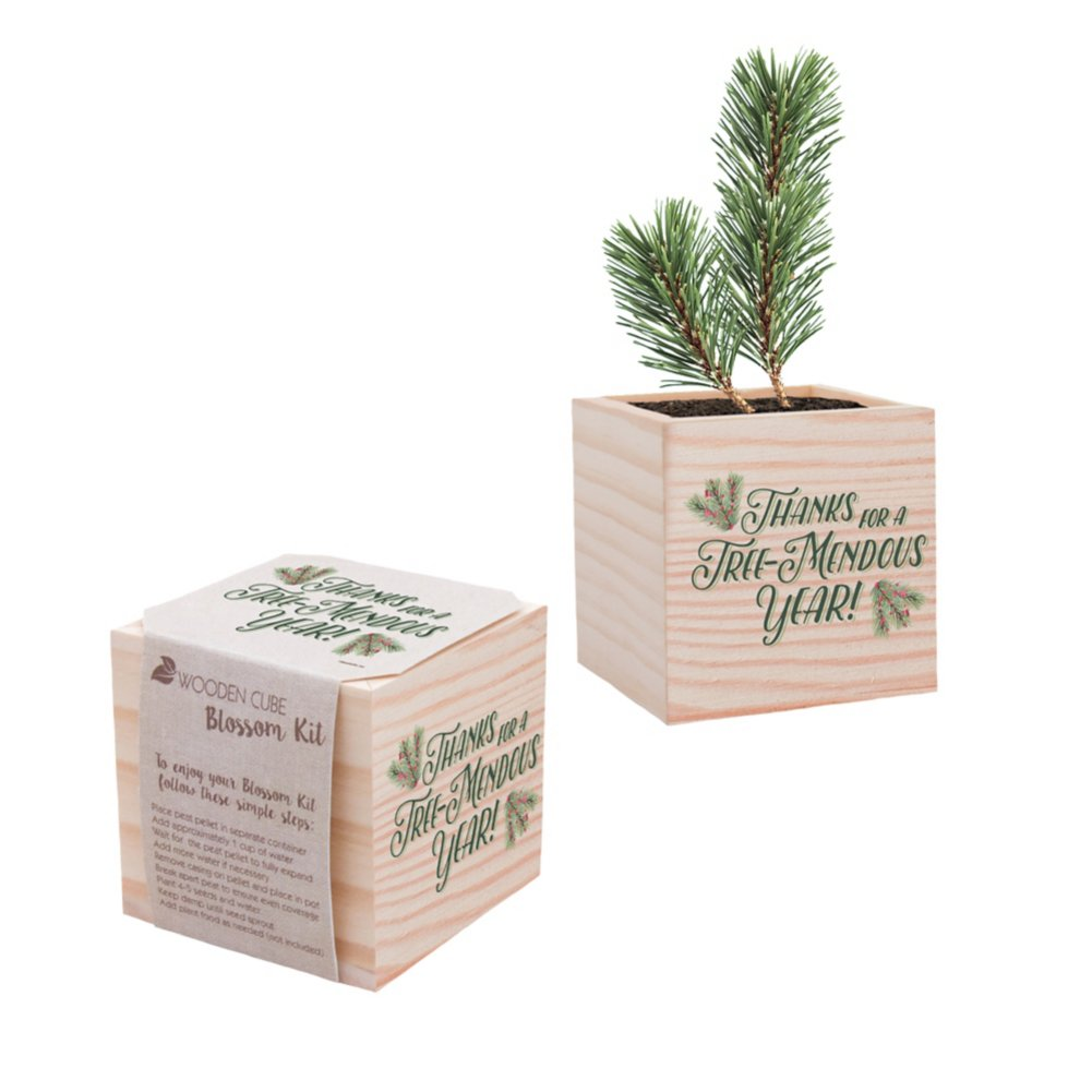 View larger image of Appreciation Plant Cube - Holiday: Tree-Mendous Year