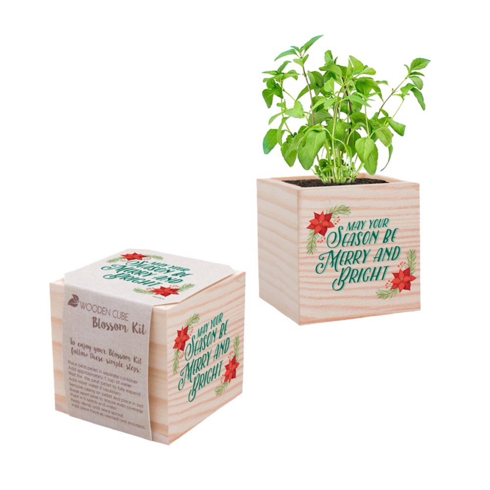 View larger image of Appreciation Plant Cube - Merry & Bright