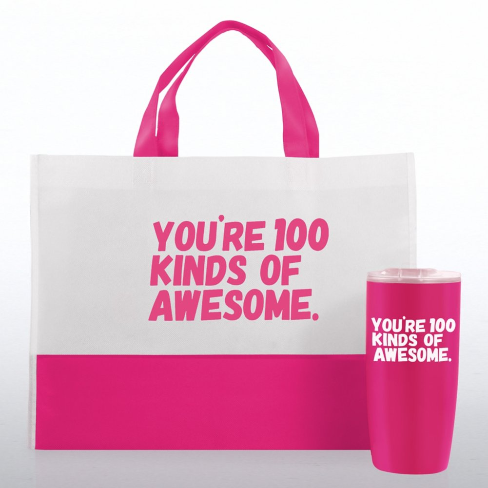View larger image of Tumbler and Tote Value Gift Set - 100 Kinds Of Awesome