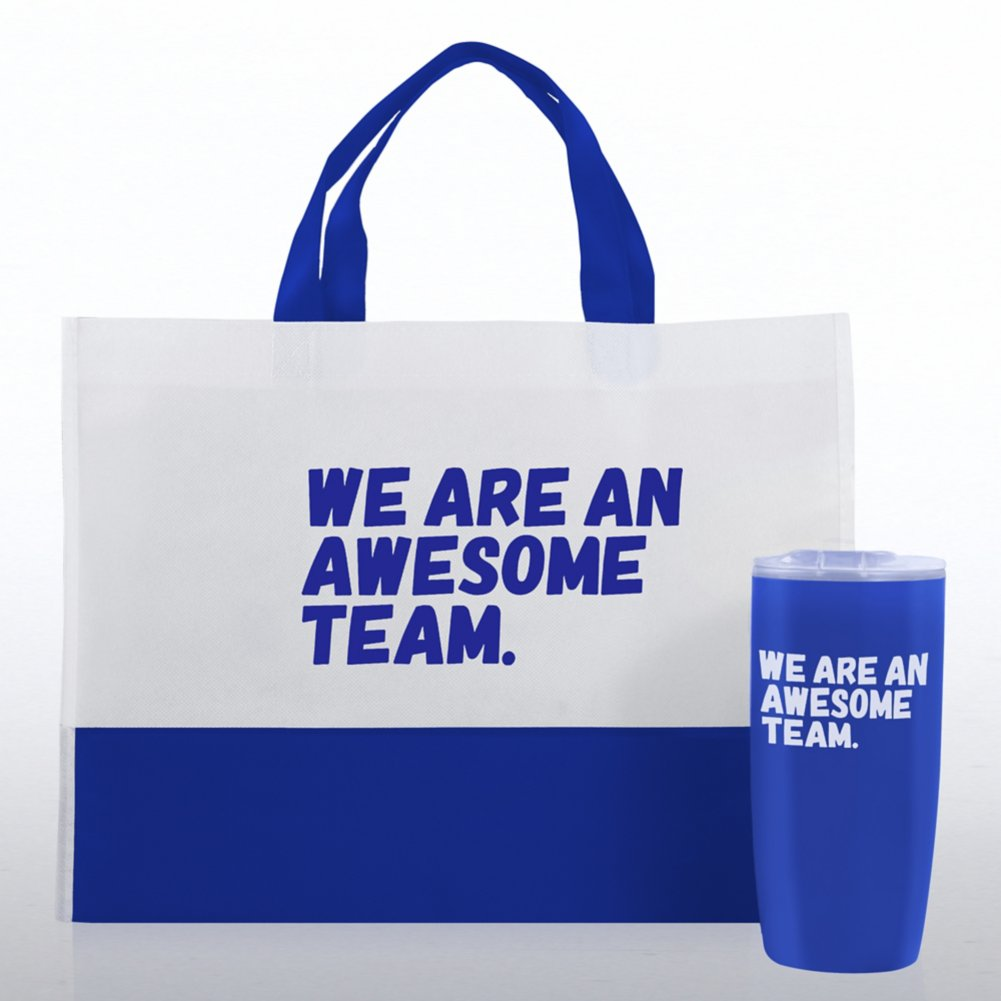 View larger image of Tumbler and Tote Value Gift Set - We Are An Awesome Team