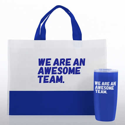 Tumbler and Tote Value Gift Set - We Are An Awesome Team
