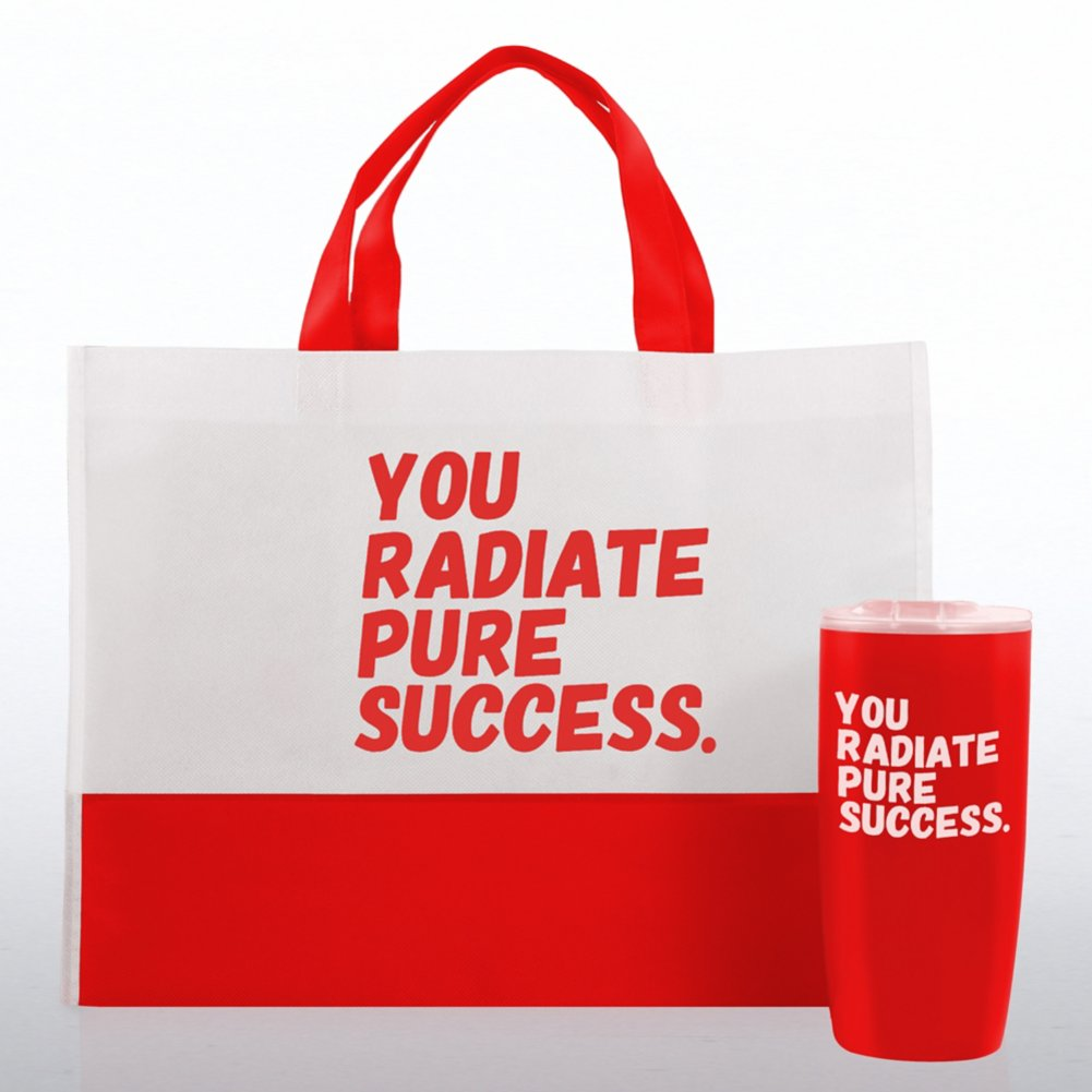 View larger image of Tumbler and Tote Value Gift Set - You Radiate Pure Success