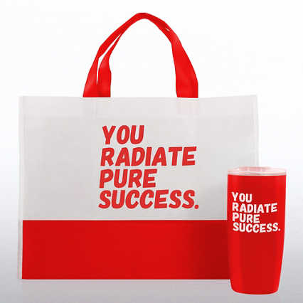 Tumbler and Tote Value Gift Set - You Radiate Pure Success