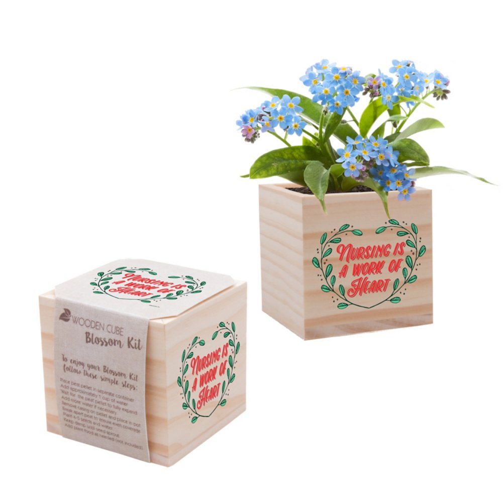 View larger image of Nurse Appreciation Plant Cube - Nursing is a Work of Heart