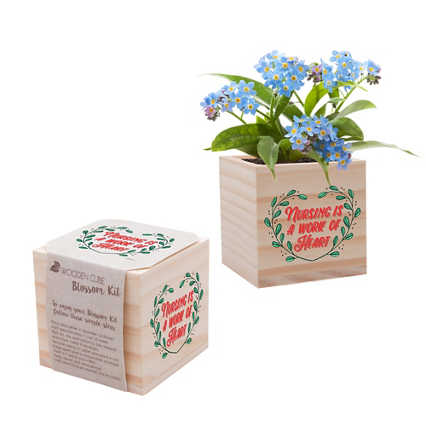 Nurse Appreciation Plant Cube - Nursing is a Work of Heart