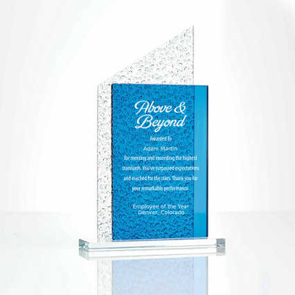 Textured Glass Award Rectangle