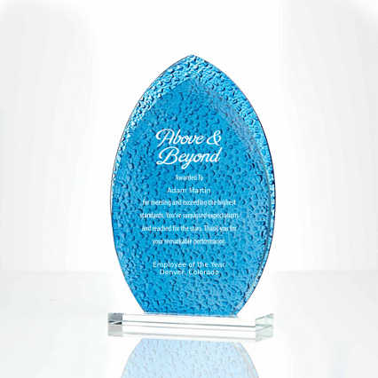 Textured Glass Award Oval