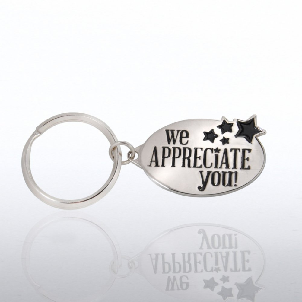 View larger image of Nickel-Finish Key Chain - We Appreciate You