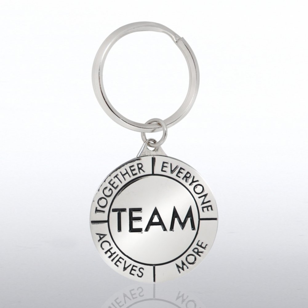 View larger image of Nickel-Finish Key Chain - TEAM