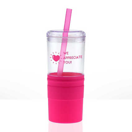 Value Smooth Grip Tumbler - Heart: We Appreciate You!