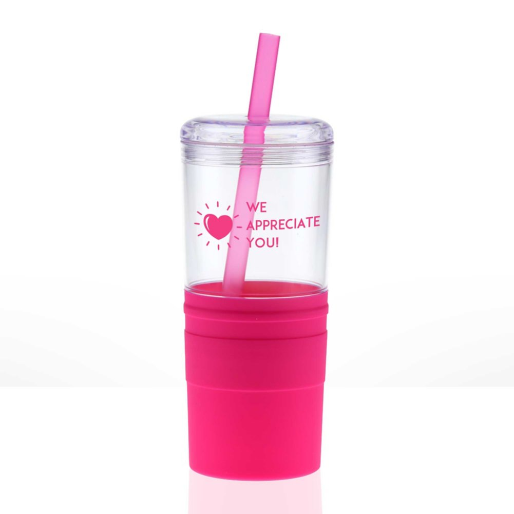 View larger image of Value Smooth Grip Tumbler - Heart: We Appreciate You!