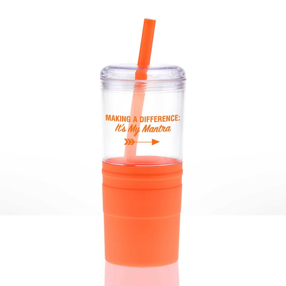 View larger image of Value Smooth Grip Tumbler - Making a Difference: Mantra