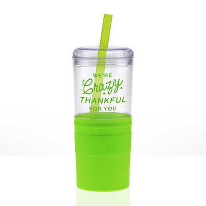 Value Smooth Grip Tumbler - We're Crazy Thankful For You