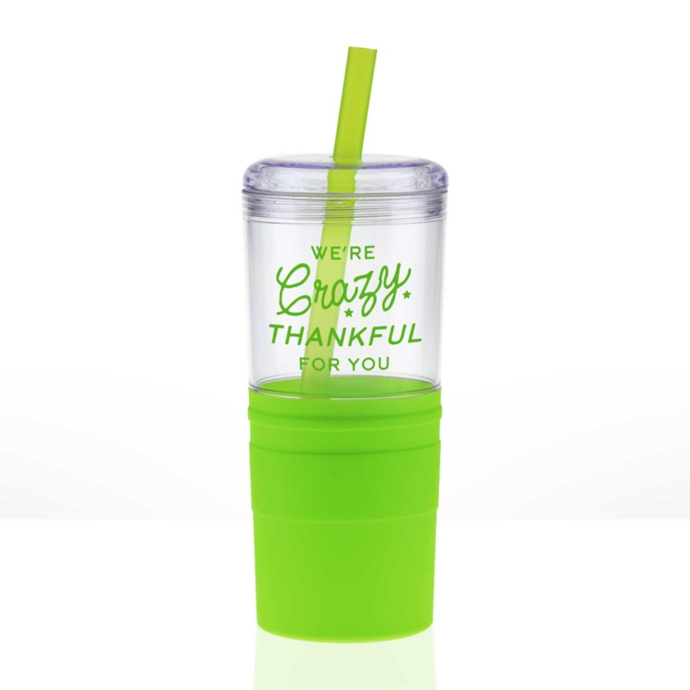 View larger image of Value Smooth Grip Tumbler - We're Crazy Thankful For You