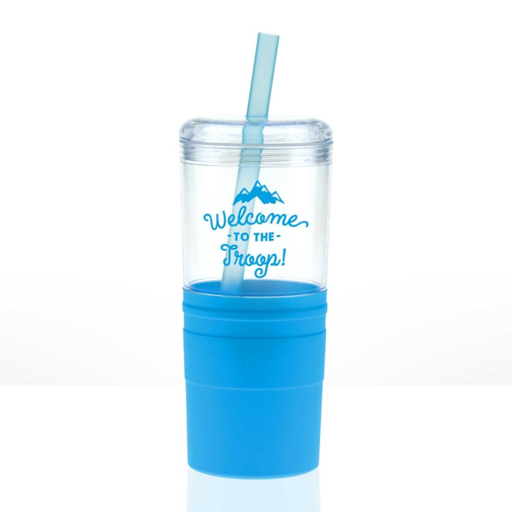 View larger image of Value Smooth Grip Tumbler - Welcome To The Troop!