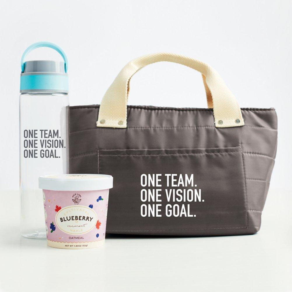 View larger image of Healthy Habits Lunch Tote Gift Set - One Team