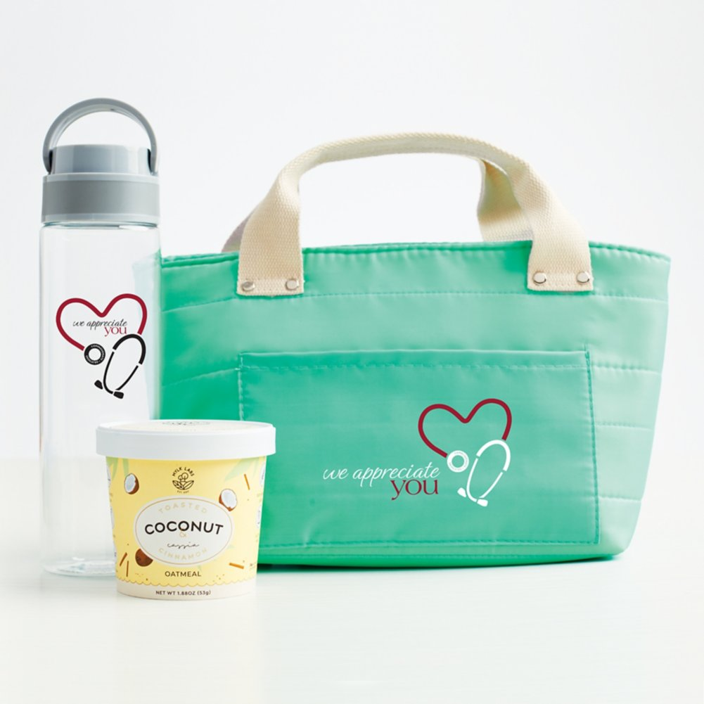View larger image of Healthy Habits Lunch Tote Gift Set - We Appreciate You