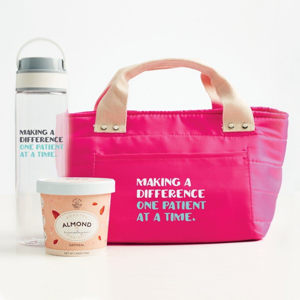 View larger image of Healthy Habits Lunch Tote Gift Set - Making a Difference