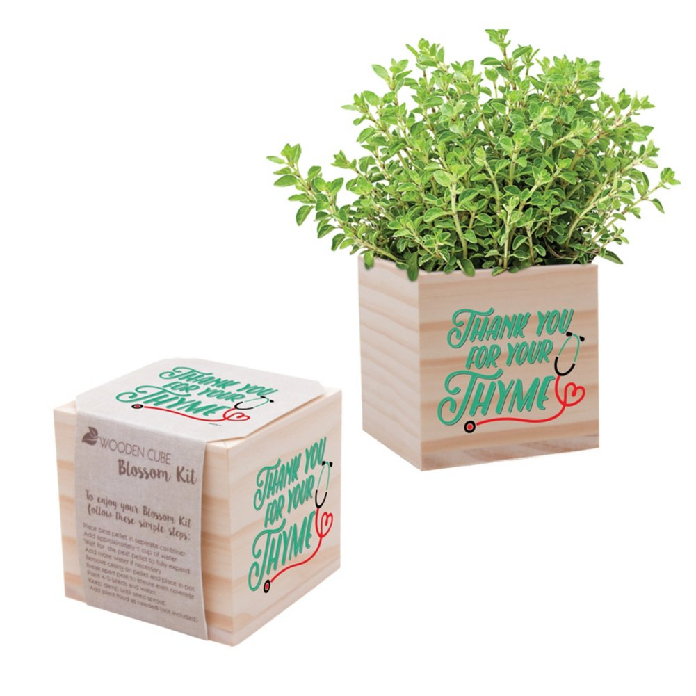 View larger image of Nurse Appreciation Plant Cube - Thank You for Your Thyme