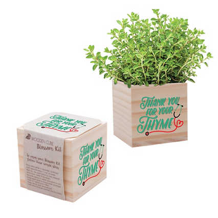 Nurse Appreciation Plant Cube - Thank You for Your Thyme