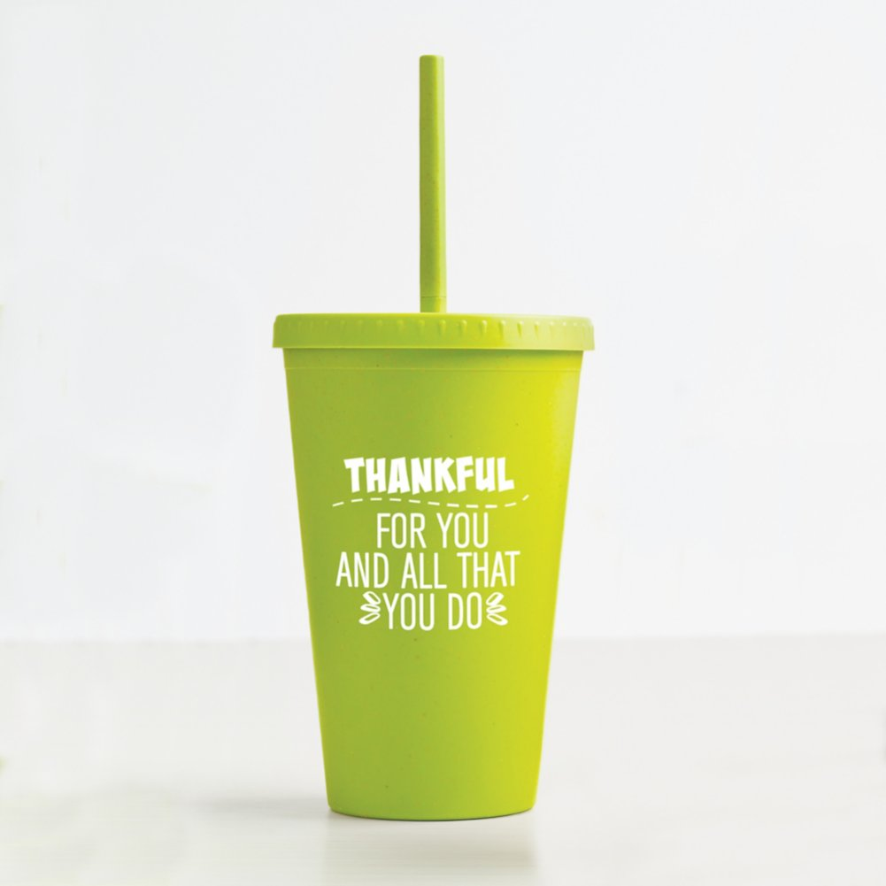 View larger image of Eco-Smart Wheat Tumbler - Thankful for You